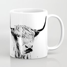 Wall Tapestry  portrait of a highland cow Coffee Mug