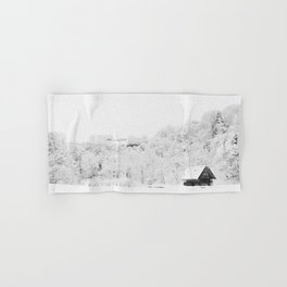 Winter Forest (Black and White) Hand & Bath Towel