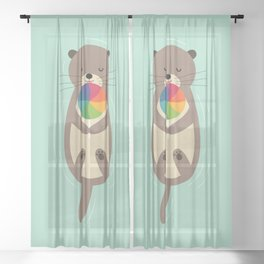 Sweet Otter Sheer Curtain