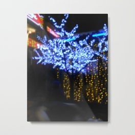 Tree of lights Metal Print