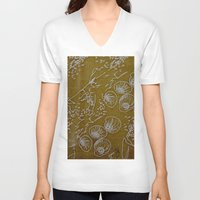 shells V-neck T-shirts featuring Shells by ANoelleJay