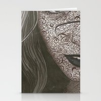 no face Stationery Cards featuring Face  by Kate Allison