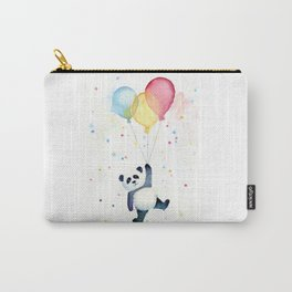 Birthday Panda Balloons Cute Animal Watercolor Carry-All Pouch