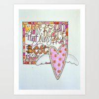 Write It On Your Heart - That Every Day Is The Best Day Of The Year Art Print