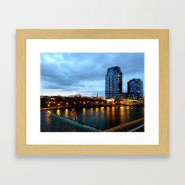 It Was A Cold Night in Grand Rapids Framed Art Print