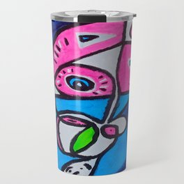 Tripping-Out Kitty Travel Mug