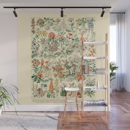 Wildflowers and Roses // Fleurs III by Adolphe Millot 19th Century Science Textbook Artwork Wall Mural
