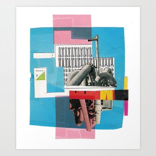 Screw factory Art Print