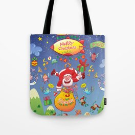 Santa has a Zeppelin to Deliver Christmas Gifts Tote Bag