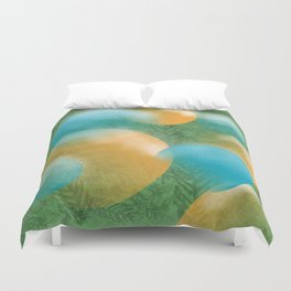 frosted ornaments Duvet Cover