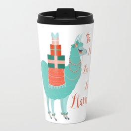 Fa la la la llama Travel Mug