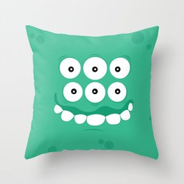 Psychos - Crazy Monsters (Turquoise) Throw Pillow