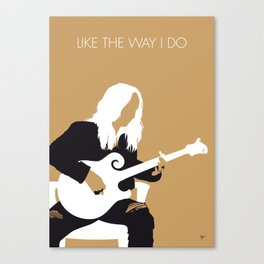 No110 MY Melissa Etheridge Minimal Music poster Canvas Print
