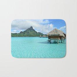 Luxury over-water resort with view on Bora Bora island Bath Mat