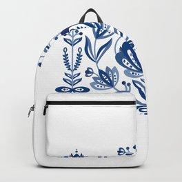 Nordic Blue Rose Backpack