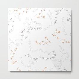 Fall Flowers Print Metal Print