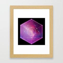Sacred Geometry Flower Of Life Galaxy  Framed Art Print