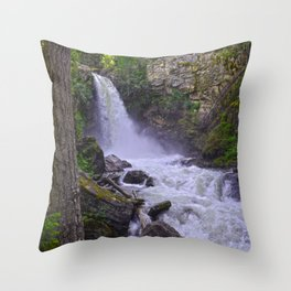 Sutherland Falls BC,Canada Nature Scene Throw Pillow