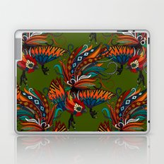 rooster ink green Laptop & iPad Skin