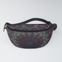 Branching Rainbow Fractal Kaleidoscope Fanny Pack
