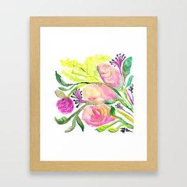 Conceited Floral Framed Art Print