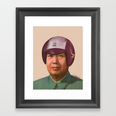 Helmet Mao Framed Art Print