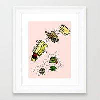 netflix Framed Art Prints featuring Basquiat Netflix by alexSHARKE