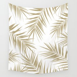 Palm Leaves Cali Finesse #2 #gold #tropical #decor #art #society6 Wall Tapestry