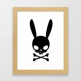 Skull Bunny Framed Art Print