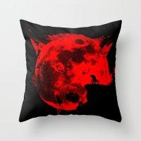 werewolf Throw Pillows featuring Werewolf by Badamg