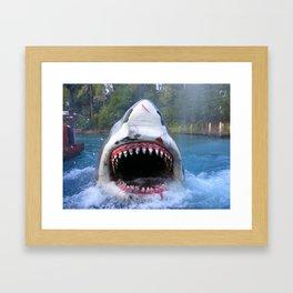 Shark Attack III! Framed Art Print