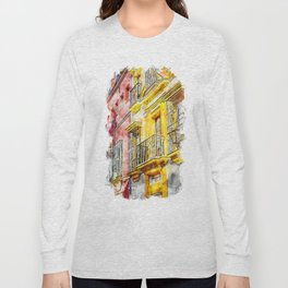 Seville, the colorful streets of Spain Long Sleeve T-shirt