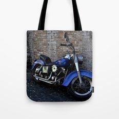 Blue Motorcycle Tote Bag