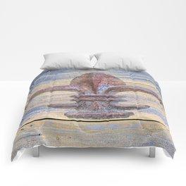 Fluer De Lis Beach Lake House Coastal Art A194 Comforters