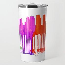 Tampa, Florida Skyline - Puddles Travel Mug