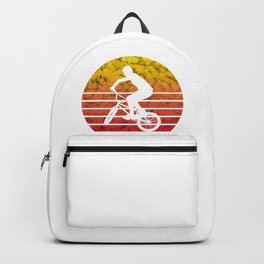 BMX Bike Biker Bicycle Retro Love Life Gift Backpack