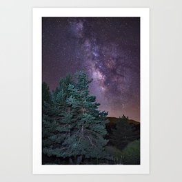 Milkyway at the mountains. Saggitarius and Rho Ophiuchus Art Print