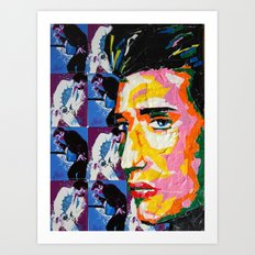 Taped Elvis Art Print