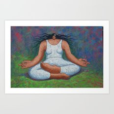 Lotus Pose Art Print