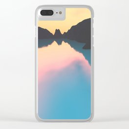 Indonesian crater lakes Clear iPhone Case