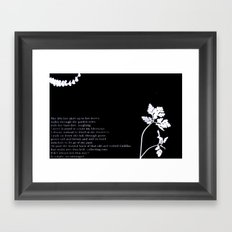 with her bare feet, laughing Framed Art Print