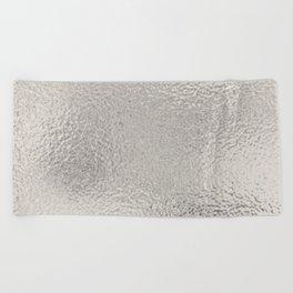 Simply Metallic in Silver Beach Towel