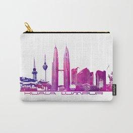 Kuala Lumpur skyline purple Carry-All Pouch