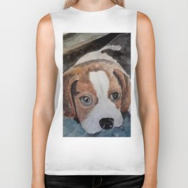 Cute Little Puppy Biker Tank