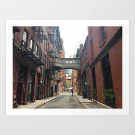 Staples Street Footbridge, TriBeCa, NYC Art Print