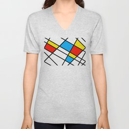Related Colored Lines Unisex V-Neck