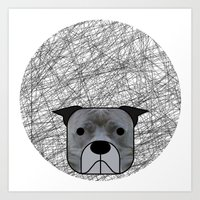 pit bull Art Prints featuring Pit Bull by lllg