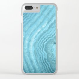 Blue Agate Clear iPhone Case