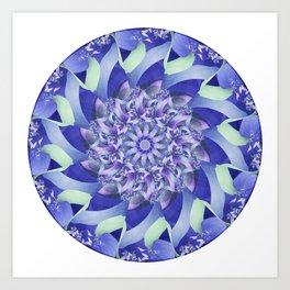 Ever Expanding Mandala in Blue and Purple Art Print