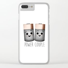 Power Couple   Batteries Clear iPhone Case